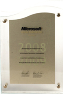 Microsoft Gold Certified Partner Excellence Award 2008-09